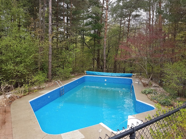 A swimming pool ready for summer