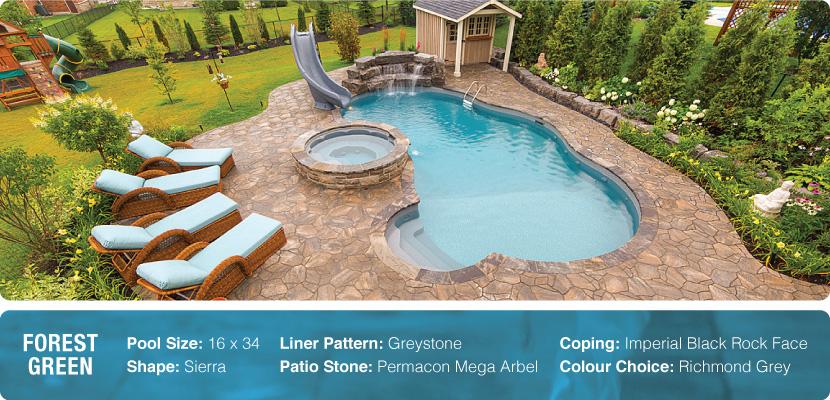 A custom inground swimming pool in Uxbridge built by Pool Craft