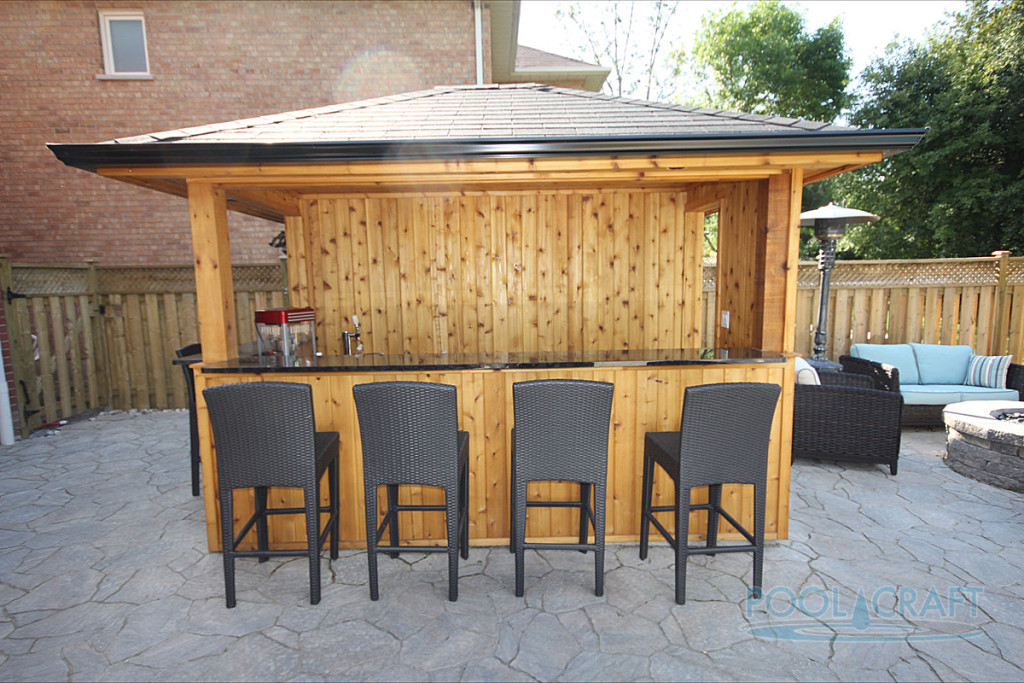 A custom cabana built by Pool Craft for a homeowner in Aurora