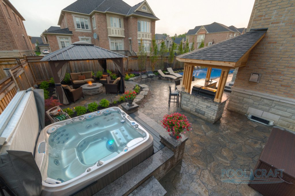 4 Awesome Pools Built in Small Backyards - Pool Craft on spas for decks, great spool designs for backyards, awesome small backyards, luxury backyards,
