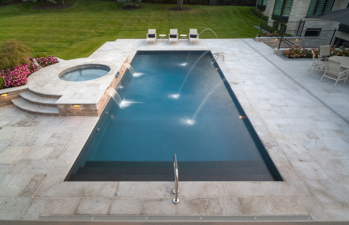 Swimming pool contractors design service the pool for Pool design company polen