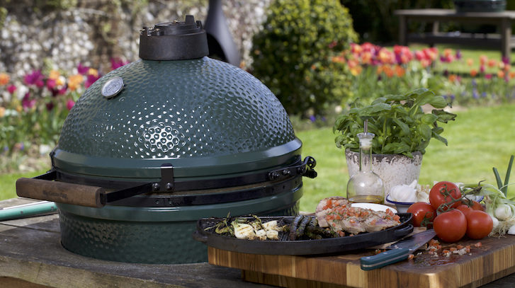 A big green egg barbeque, sold by Pool Craft, an authorized dealer