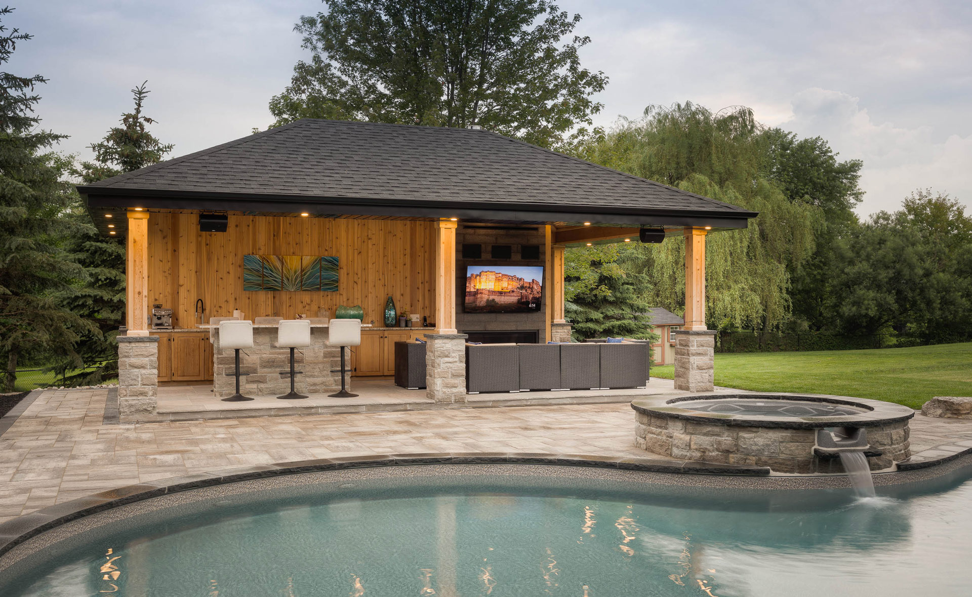 Cabanas And Woodworking Pool Craft